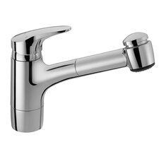 Hansamix One Handle Single Hole Kitchen Faucet with Pull Out Spray