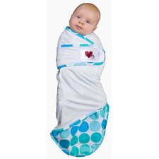 Snug and Tug Swaddle Blanket, Caribbean Blue - Small