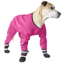 Dog Jog Rainsuit in Pink