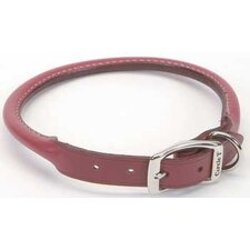 "Pet 0.4"" W Leather Round Collar in Red"