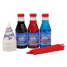 3 Flavor Party Pack Snow Cone and Shaved Ice Syrup Pint