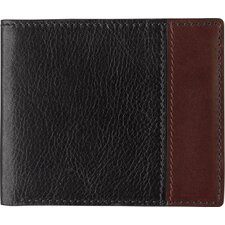 Dividends Slimfold Wallet in Black and Dark Mahogany Waxhide