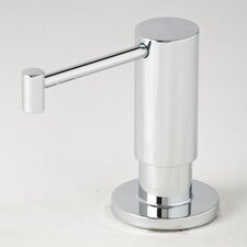 Contemporary Centerset Soap and Lotion Dispenser Faucet with Less Handle and Straight Spout