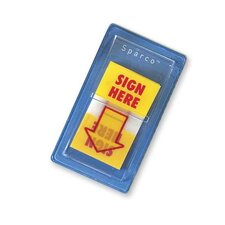 "Remov. Flags, w/Pop-up Disp, ""Sign Here"", 1""x1-3/4"", 100/PK, YW"