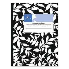 Sparco 80 Sheet Composition Notebook, Black
