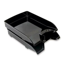 "Letter Trays, Front-Loading, 9-7/8""x13-1/5""x1-3/4, Black"