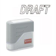 "DRAFT Title Stamp, 1-3/4""x5/8"", Black Ink"