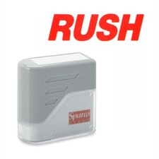 "RUSH Title Stamp, 1-3/4""x5/8"", Red Ink"