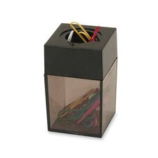 "Paper Clip Dispenser, Magnetic, 2""x3"", Smoke/Black"