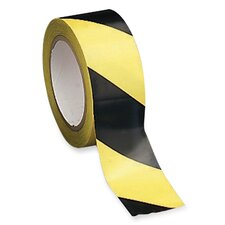 "Marking/Hazard Tape, Adhesive-Back, 2""x108', Yellow/Black"