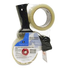 "Tape, w/ Pistol Grip Dispenser, 3"" Core, 2""x55 Yds, 2/PK, Clear"
