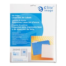 "Filing Labels, Laser/Inkjet, 2/3""x3-7/16"", 1500/PK, Yellow"