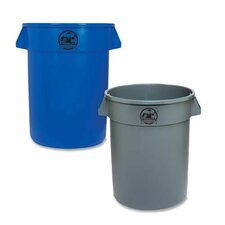 Heavy-duty Trash Container, Gray