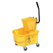 Splash Guard Mop Bucket/Wringer, Yellow/black