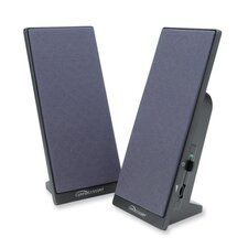 Compucessory Flat Panel Full Range Speakers, Black