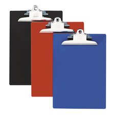 "Recycled Plastic Clipboards, 1"" Capacity"
