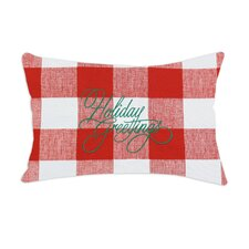 "Anderson Embroidered ""Holiday Greetings"" Pillow"