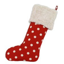 Ikat Dot Lined Trimmed Stocking