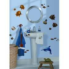 24-Piece Under the Sea Peel and Stick Wall Sticker