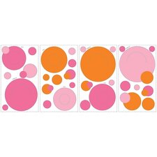Peel and Stick Wall Pocket in Pink and Orange