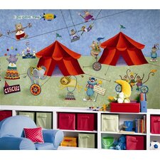 Surestrip Big Top Circus Chair Rail Prepasted Mural