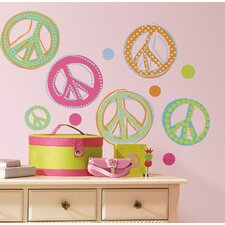 Studio Designs Peace Signs Peel and Stick Wall Decal