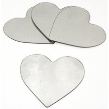 Wall Mirrors Heart Peel and Stick Small Decal