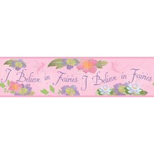 Believe In Fairies Border in Pink