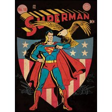 Superman Patriotic Issue Peel and Stick Comic Cover Wall Decal