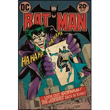 Batman / Joker Issue Peel and Stick Comic Book Cover Wall Decal