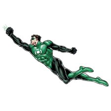 Green Lantern Peel and Stick Giant Wall Decal