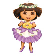 Nickelodeon Dora the Explorer Enchanted Forest Adventures Peel and Stick Giant Wall Decal