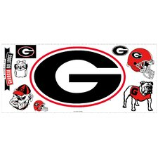 University of Georgia Peel and Stick Giant Wall Decal wHooks