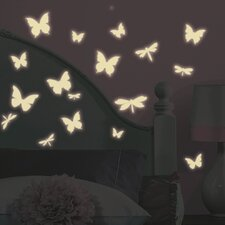 Butterfly and Dragonfly Glow in the Dark Wall Decals