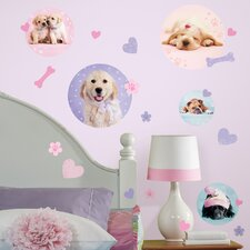 37-Piece Puppy Spots Peel and Stick Wall Decal
