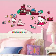 The World of Hello Kitty Peel and Stick Wall Decals 32 Piece Set
