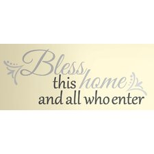Peel & Stick Bless this Home Wall Decal