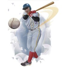 Baseball Player Breakout Self Stick Appliqué