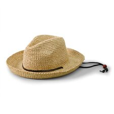 Kids' Raffia Hat with Chin Strap