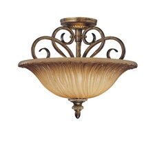 Raffine 2 Light Semi Flush Mount