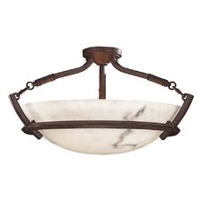 Calavera 3 Light Semi Flush Mount