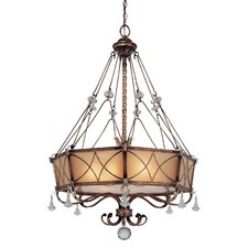 Aston Court 6 Light Drum Pendant