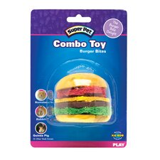 Combo Toy Crispy & Wood Hamburger Small Animal Chew Toy