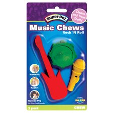 3 Pack Rock N Roll Chews Small Animal Toy
