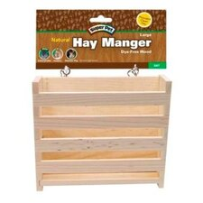 Natural Wooden Hay Manger