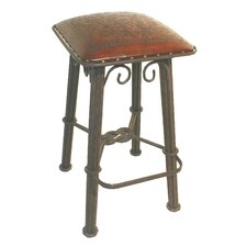 Colonial Western Iron Barstool in Antique Brown
