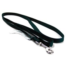 Single Thick Nylon Lead with Snap in Hunter Green