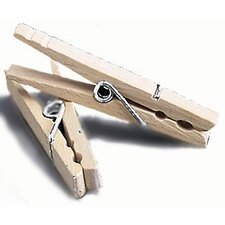 96 Count Wood Clothespins