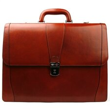 Old Leather Double Gusset Briefcase
