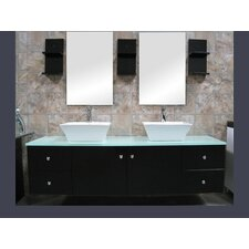 "Portland 61"" Double Sink Vanity Set"